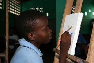 Port-au-prince-boy-painting