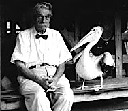 Albert Schweitzer mit Pinguin