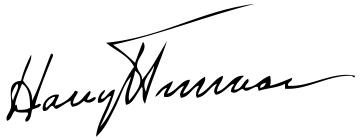 Harry Truman Sig