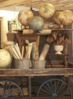 Map+Globe Cart